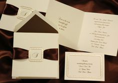 Off Elegant Wedding Invitations, Holiday Cards, Greeting Cards, Birth Announcements and Fine Stationery – All about saving you money without losing elegance or attitude. Cream Wedding, Caramel Brown, Unique Weddings, Ale, Wedding Invitations, Ribbon Wedding, Place Card Holders, Cards Against Humanity, Wedding Ideas