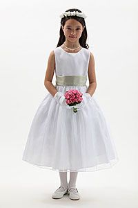 Flower Girl Dresses - Flower Girl Dress Style 5378-BUILD YOUR OWN DRESS! Choice of 139 Sash and 51 Flower Options!