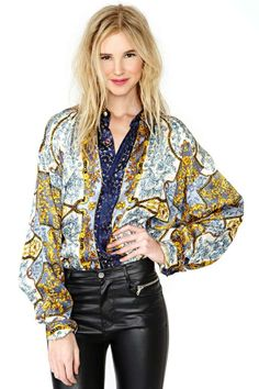 Gild Away Silk Blouse