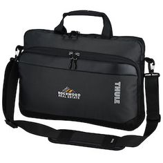 Legendary Thule quality and your embroidered logo combine for a memorable laptop bag!