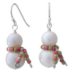 Snowman in a Scarf Earrings | Fusion Beads Inspiration Gallery