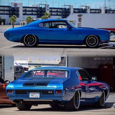 #BecauseSS 70 chevelle blue black pro touring painted bumpers concave wheels forgeline jcg_restoration chevelle