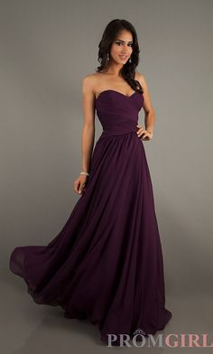 Long Strapless Gowns, Mori Lee Long Dresses- PromGirl in wine colour please