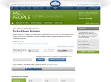 Petition to pardon Snowden at the White House Website