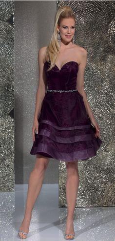 Isabel de Mestre - Evenings Abendkleider Kollektion 2016 (Art.15E250): Kurzes Abendkleid ohne Träger für Hochzeit etc.
