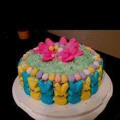 Sugar Overload!  Peeps cake