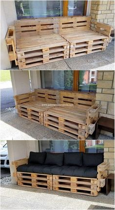 DIY Charming Wood Pallet Ideas for Your Home Beauty: If you are clearly aware from the environmental taste of your house surroundings, then redesigning the house or bringing. Pallet Furniture Designs, Pallet Garden Furniture, Wooden Pallet Projects, Diy Outdoor Furniture, Pallet Crafts, Wooden Pallets, Diy Furniture, Pallet Wood, Barbie Furniture