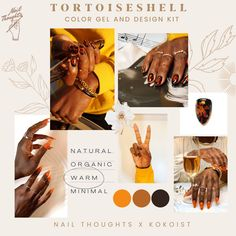 YOU CAN FINALLY MASTER THE TORTOISESHELL NAIL ART TECHNIQUE! It's sometimes so difficult to find the perfect color for your tortoiseshell manicure but finally Katie Masters and Kokoist have collaborated to create the perfect tortoise shell gel color and tortoiseshell design kit! Tap through for all the info on it! #tortoiseshell #tortoiseshellnails Gel Nail Colors, Gel Color, Local Nail Salons, Fall Manicure, Nail Art Techniques, Fall Nail Art Designs, Nail Art Supplies, Color Kit, Nail Supply