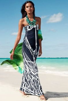 Beach attire --time for a beach day-- Kate Hudson, Women's Fashion Dresses, Casual Dresses, Beach Dresses, Beach Vacation Outfits, Vacation Wear, Vacation Style, Beach Attire, Nautical Fashion