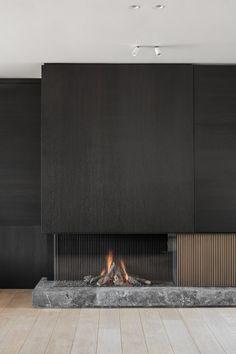 Living Room Decor Fireplace, Fireplace Tv Wall, Modern Fireplace, Home Room Design, Home Interior Design, Interior Architecture, House Design, Apartment Interior, Living Room Interior