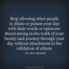 Stop allowing other people from interfering in your life
