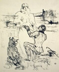 The Declaration Lithograph by Toulouse-Lautrec