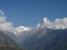 Blick auf den Machhapuchhare (6.997 m) - (c) Peter Belina