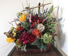 Table floral centerpiece floral arrangement by CarolaFlowerDesigns, $120.00