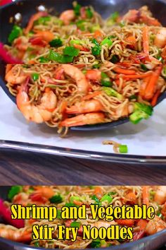 Very Easy Shrimp and Vegetable Stir Fry Noodles Asian inspired fl. - Very Easy Shrimp and Vegetable Stir Fry Noodles Asian inspired flavors and very easy - Tofu Stir Fry, Healthy Stir Fry Sauce, Shrimp Stir Fry Easy, Asian Stir Fry, Shrimp Lo Mein Recipe Easy, Shrimp Noodle Stir Fry, Stir Fry Pasta, Shrimp Rice Noodles, Prawn Stir Fry