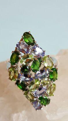 ❤JAYNES GEMS 4CT TANZANITE, CHROME DIOPSIDE, PERIDOT,14CT W GOLD/295 SILVER  N in Jewellery & Watches, Fine Jewellery, Fine Rings | eBay!