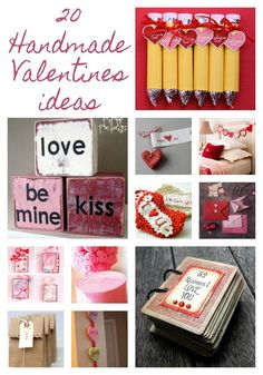 20 Handmade Valentines Day Ideas- Add a touch of homemade style to your Valentine's Day crafts. My Funny Valentine, Valentines Day Party, Valentine Day Love, Valentine Day Crafts, Valentine Decorations, Valentine Ideas, Handmade Valentine Gifts, Printable Valentine, Homemade Valentines