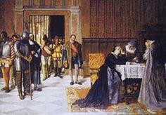 María Pacheco se entera de la muerte de su esposo, Juan Padilla.