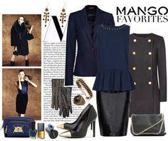 """Mango set"" by natsuko333 ❤ liked on Polyvore"