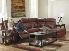 Make your family room or entertainment room complete with the extremely functional and comfortable items from the Primematic Durablend Crimson RAF Sectional