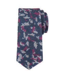 Wool texture camo tie - Navy | Ties & Pocket Squares | Ted Baker