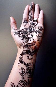 Black Mehandi Designs