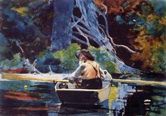 """The Adirondack Guide"", 1894, watercolor, Winslow Homer  (1836-1910)"