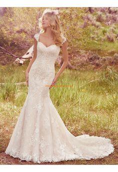 Meerjungfrau Luxuriöse Wunderschöne Brautkleider aus Tüll mit Applikation