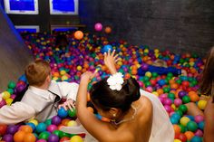 Alissa eric 39 s post punk playground party wedding the o for Ball pits near me