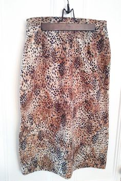 50's Retro Rockabilly Leopard Skirt/ High by JulesCristenVintage, $18.00