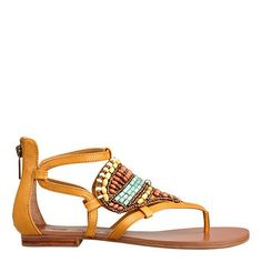 Designer Clothes, Shoes & Bags for Women Beaded Sandals, Shoes Sandals, New Mens Fashion, Yellow Leather, Guy Pictures, Nine West, Leather Shoes, Fashion Outfits, Shoe Bag