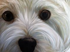 PRINT White Westie West Highland Terrier Dog Puppy Art Print Oil Painting / Mary…