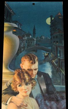 Image detail for -GENE PRESSLER 1922 POMPEIAN BEAUTY YARD LONG PANEL PIN UP PRINT VENICE ...