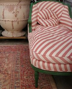 Striped Chaise Lounge