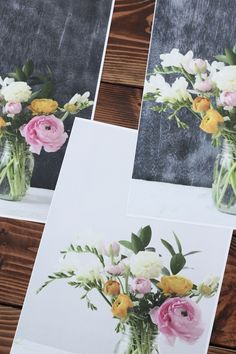 DIY floral portrait