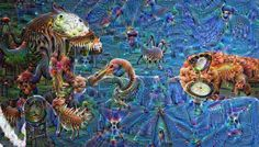 Deep dream of Spider-man and Venom. Using the inception5a/3x3_reduce layer. ... #spiderman #spider #man #spider-man #venom #teeth #tounge #deepdream #deepdreams #neuralart #neuralstyle #deepdreamart #deepstyle #psychedelic #deeplearning #machinelearning #caffe #python by deeplearningpics