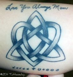 Italian Symbol for Family | This design incorporates a heart, a triquetra (Celtic trinity knot ...