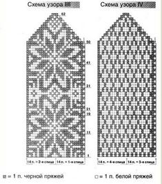 Варежки с орнаментом схемы