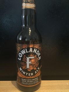 Løwlander - Winterale. 330ml, 6% Løwlander Beer Co, Amsterdam. www.lowlanderbeer.com