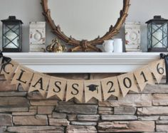 Burlap Class 2016 Banner Congratulations to Class of Banner details: ~ Hand painted black letters ~ Black satin bows included Graduation Party Themes, Graduation Banner, Graduation Celebration, Graduation Decorations, High School Graduation, Graduation Photos, Grad Parties, Graduation Ideas, Photo Banner
