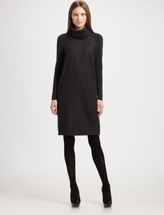 AKRIS PUNTO Wool Flannel Dress