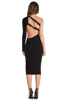 AQ/AQ Isla Midi Dress in Black | REVOLVE