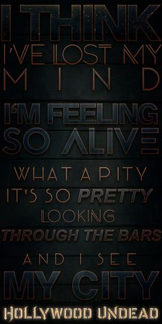 Usual Suspects-Hollywood undead<< I love this song! Cool Lyrics, Music Lyrics, Hollywood Undead Quotes, Band Quotes, Falling In Reverse, Nu Metal, Lose My Mind, Good Music, Musica