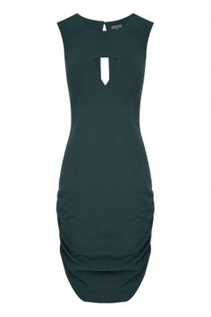 Forest green is a great alternative to navy or black. Escapade dress from Sheike