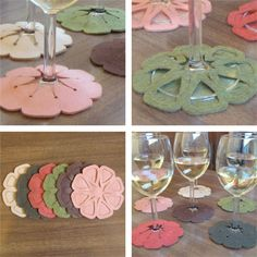 Slip on coasters...great idea!