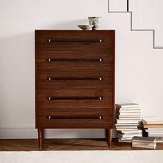 Benson 5-Drawer Dresser - Dark Walnut   west elm $900