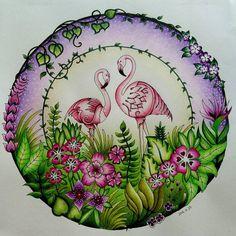 Purple and green :D #johannabasford #magicaljungle #coloringforadults #coloring #adultcoloring #adultcoloringbook #inktensepencils