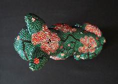 Turtle, Brooch, Pink, Crystals, Handmade, Turtles, Tortoise, Brooches