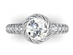 Custom Round Diamond Engagement Rings in Dallas : Custom round diamond engagement rings in Dallas, Texas.  Wholesale diamond rings and loose diamonds.....http://diamorediamondsdallas.com/diamond-rings-dallas-texas/ddr-kasam-custom-round-diamond-ring
