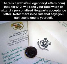 I got my Hogwarts letter from a different website and I love it! Can't remember what website it was, though...